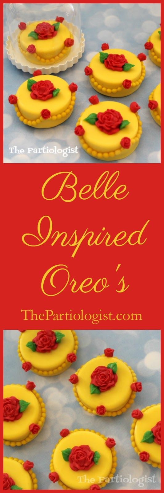 Belle Inspired Oreos ~ The Partiologist