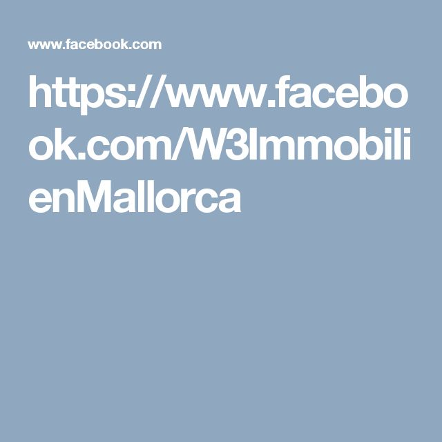 https://www.facebook.com/W3ImmobilienMallorca