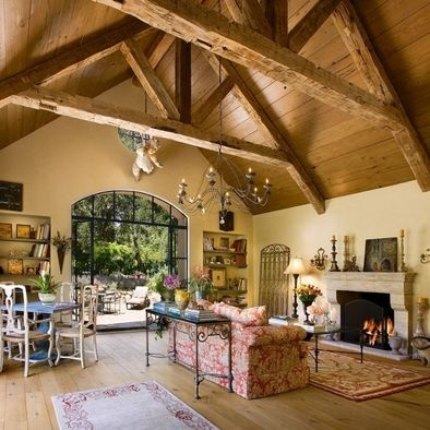 Rustic Ceiling & Living Room.