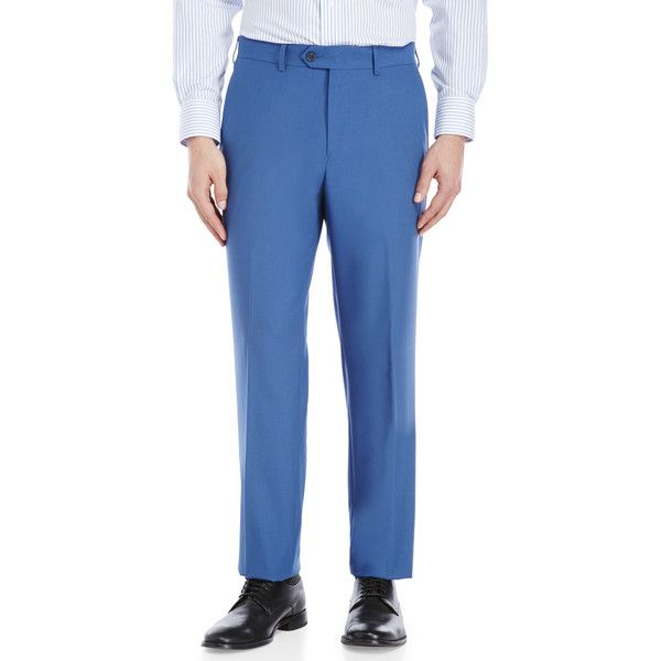 Tailorbyrd Light Blue Dress Pants ($20) ❤ liked on Polyvore featuring men's fashion, men's clothing, men's pants, men's dress pants, blue, mens zipper pants, mens pants, mens blue pants, mens dress pants and mens lined pants