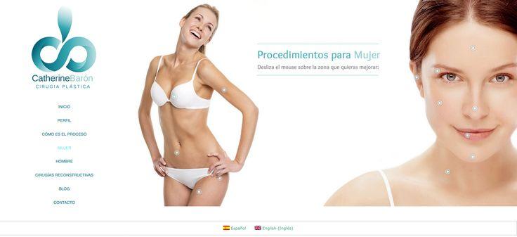 Sitio web para cirujana plástica CATHERINE BARÓN - Año ©2014