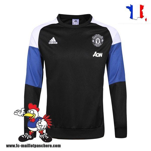 Promo Nouveau Homme Sweatshirt Training Manchester United Noir/Marine/Blanc Saison 16 17 Thailande