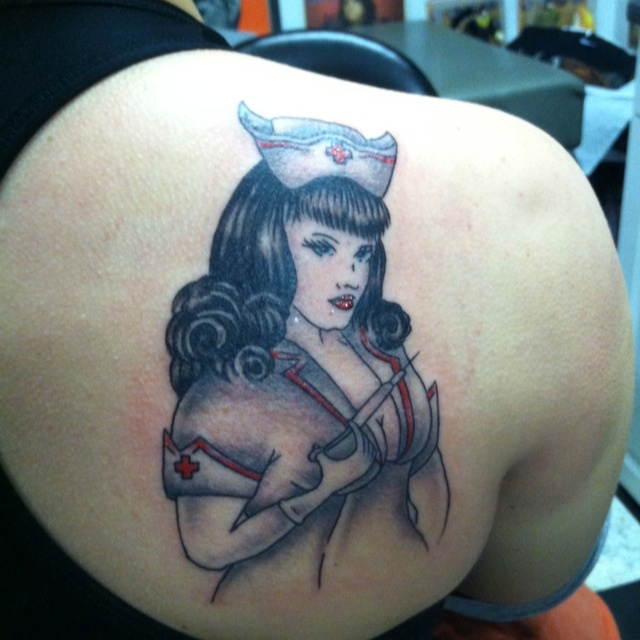 Pin By Gagan Sampla On Page Tattoo: Bettie Page Pin-Up RN Tattoo