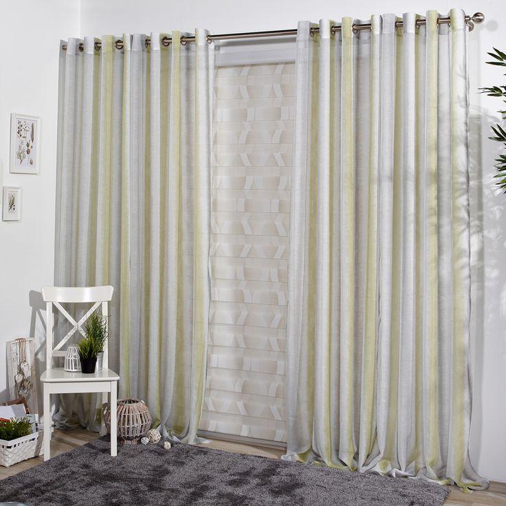 visillo moderno ayoze es una cortina de etamn en tonos grises