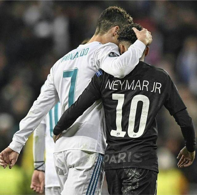 Cristiano Ronaldo Neymar In Champions League Realmadrid Psg Cristianoronaldo Neymar Neymar Ronaldo Neymar Jr