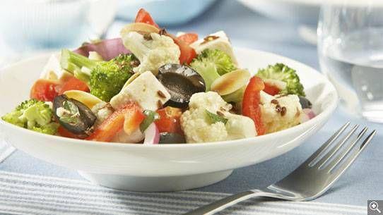 Salade crétoise: ingrédients, préparation, truc, information nutritionnelle
