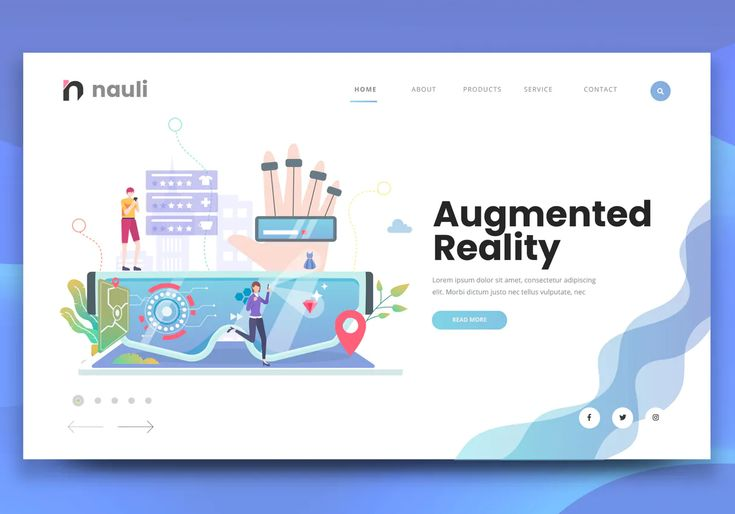 Augmented Reality Web Banner Ai, PSD in 2020 Web banner