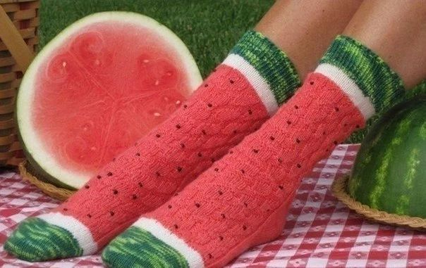 2014 summer European American fashion 3D pattern men and women socks watermelon red camouflage mixed colors cotton socks