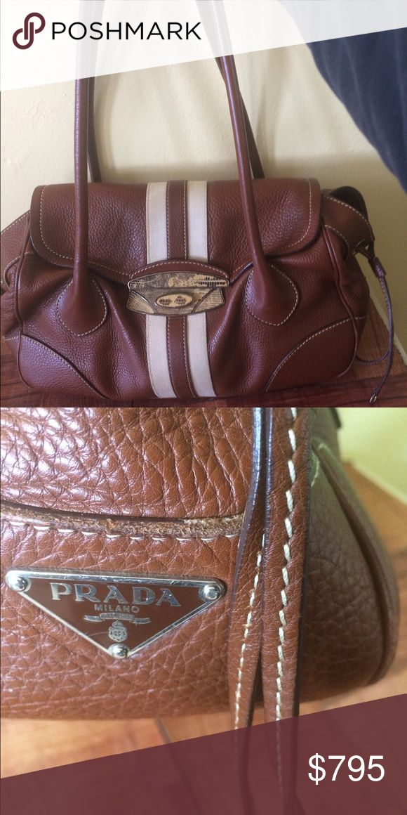 Coming Soon Prada Satchel Bag w/Python Accent Prada Leather Satchel bag with python inserts on brass metal closure. Super butter soft leather with a chocolate brown color. You'll get many compliments on this beauty. I'm excellent excellent condition. Prada Bags Shoulder Bags