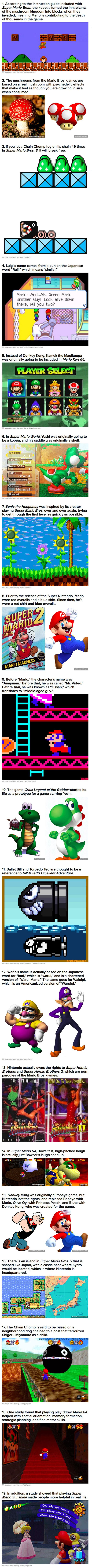 Here are some cool and interesting things you may not have known about Super Mario Bros.