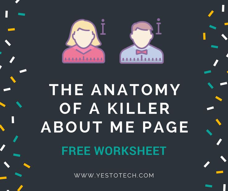 Do you know how to create a killer ABOUT ME page that WOWS your site's visitors? There are proven elements you need to include to make your page STAND OUT from the competition and capture tons of LEADS. Want in? Click here to download the FREE worksheet >> https://www.yestotech.com/perfect-about-me-page-worksheet
