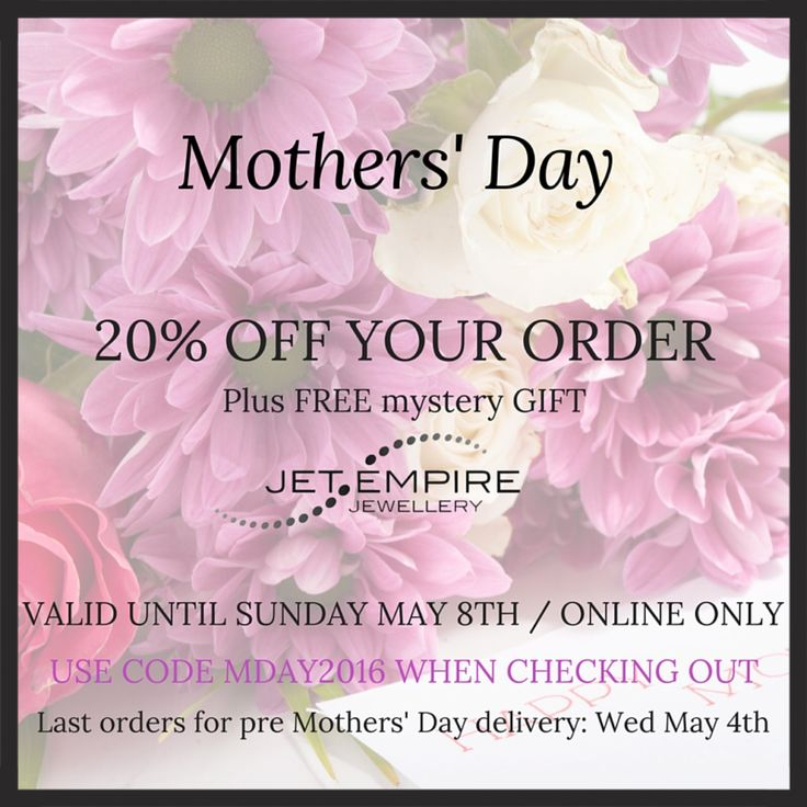 20% off plus free gift value at $50! Valid until May 8, 2016.