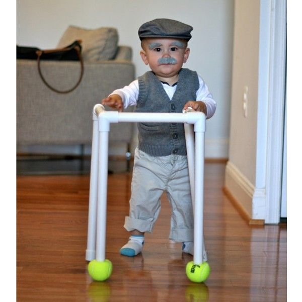This adorable baby old man #halloween costume is so easy to make.