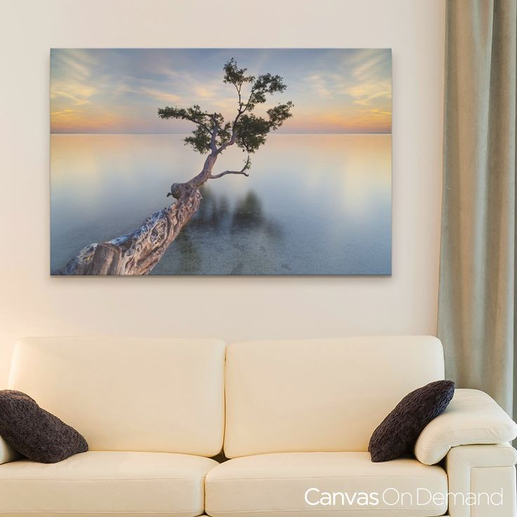 Transform Your Neutral Living Room With An Incredible View On Oversized Wall Art See This