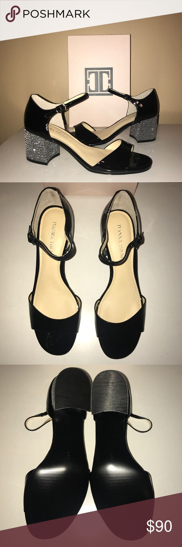 """💚IVANKA TRUMP💚Bling Block Heel Patent MaryJanes 🆕NIB💚IVANKA TRUMP💚""""EASTA"""" Bling Block Heel Patent Leather Mary Jane Pumps. Black with / Silver Bling. Sizes- 8.5 and 10 Available. Heel height- 2.5"""". Rubber sole. Cushioned footbed. Original cost $120 Ivanka Trump Shoes Heels"""