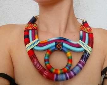Sol Statement necklace Bib necklace OOAK by UtopiaManufactory