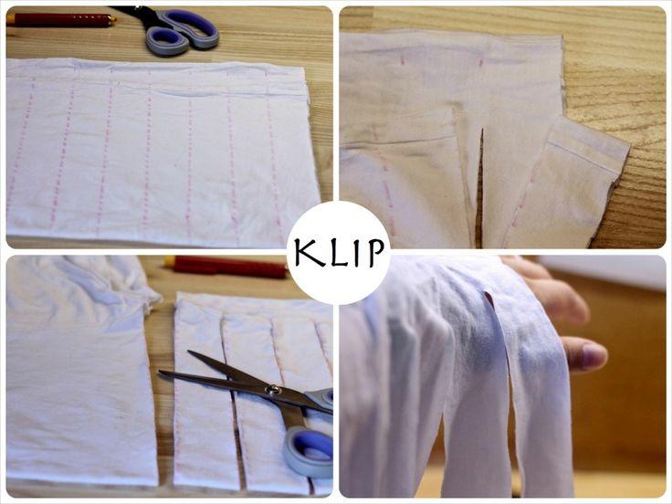 Garn, t-shirt, diy, gamle, gør, det, selv, bomuld, trøjer, redesign, genbrug