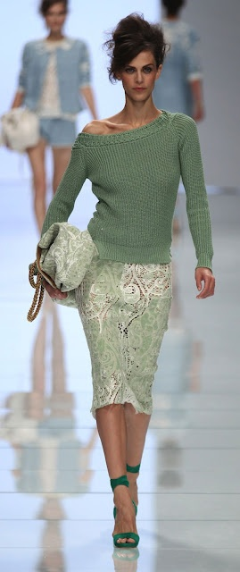 Ermanno Scervino SS '12. stunning green+ Love this - maybe next year in Europe?