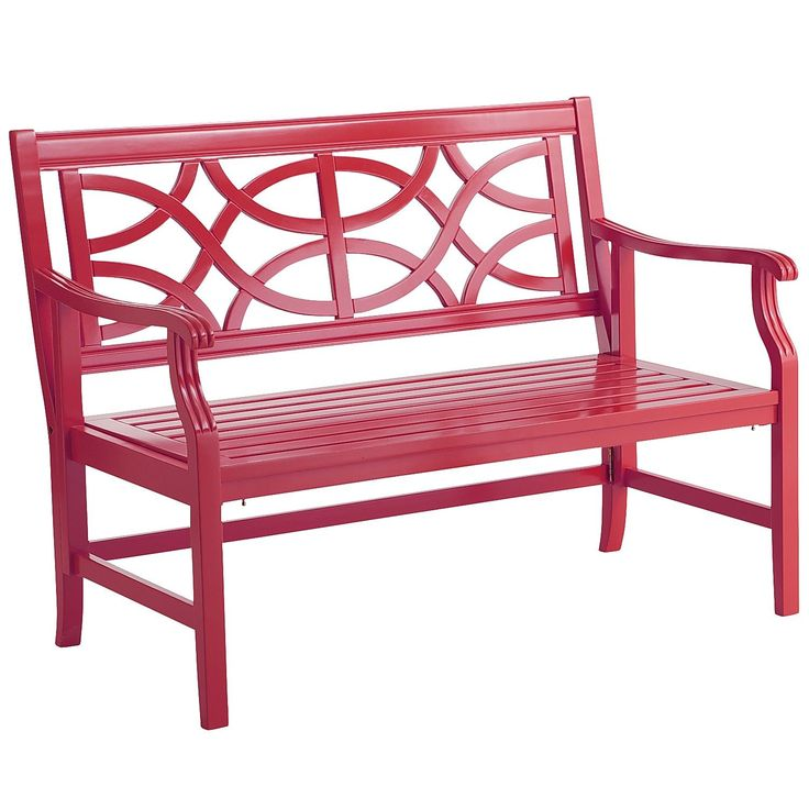 Pier One Bench: Pier 1 Imports Rock Point Folding Bench - Red