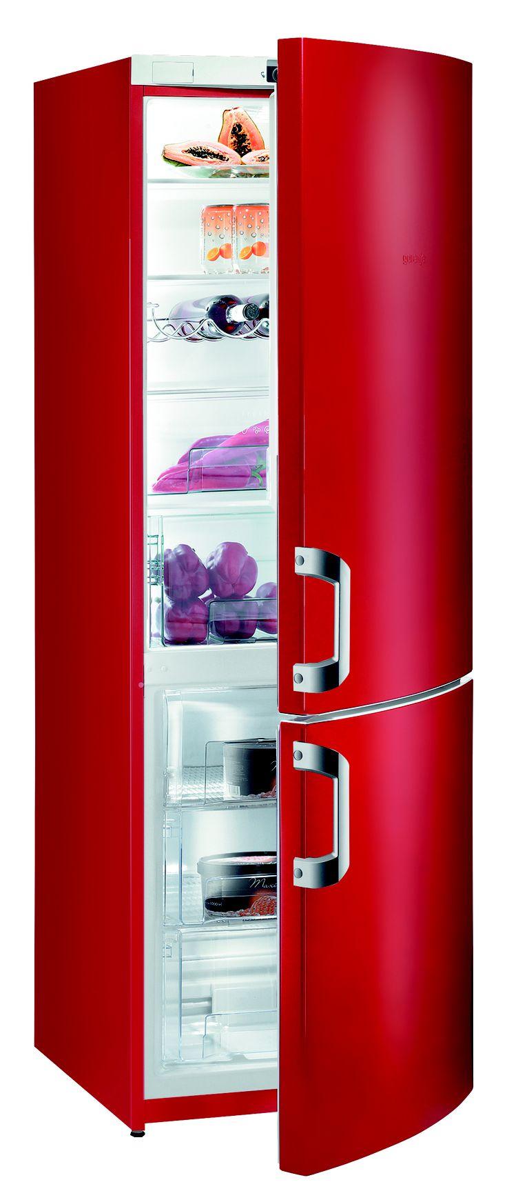 for a fashionable kitchen gorenje red fridge freezer. Black Bedroom Furniture Sets. Home Design Ideas