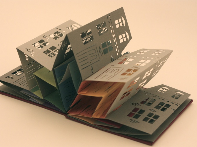 Handmade book by Emma Jackson #papercut #paper_crafting #book_arts