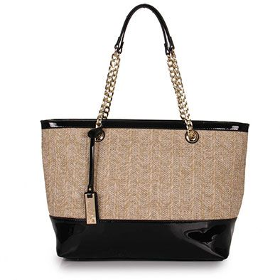 Bolsa Shopping Bag Feminina Madame Marie - Preto