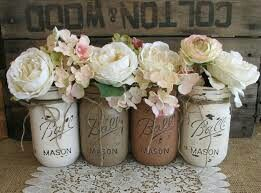 Chalk paint jars in more neutral colors.