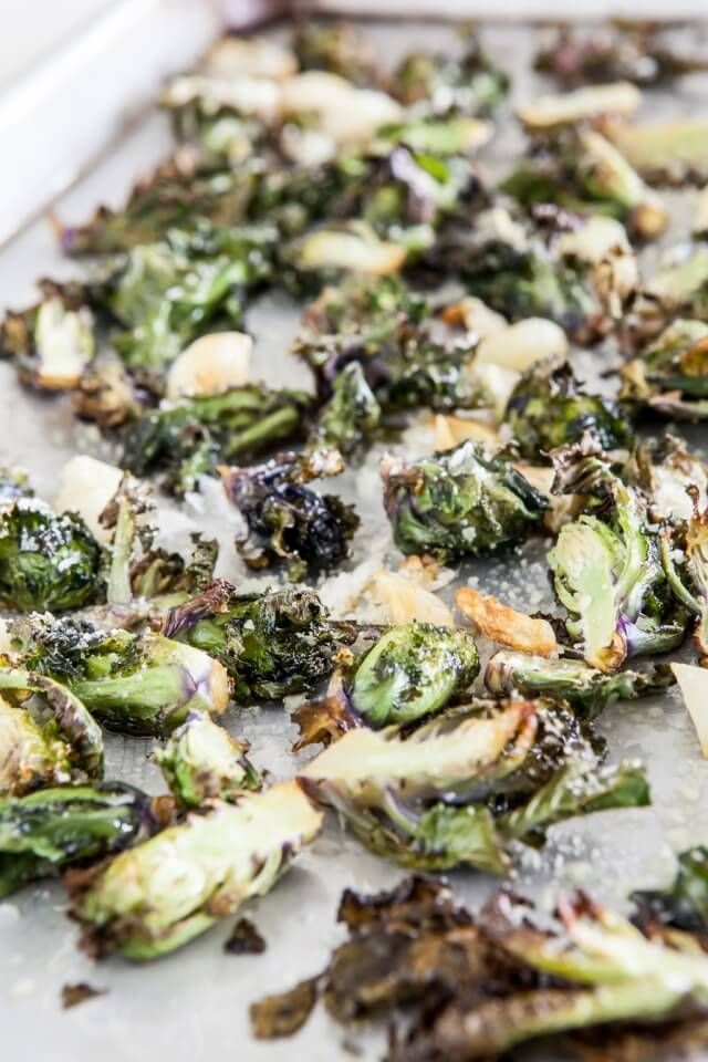 """Kale Sprouts with Garlic and Parmesan by steamykitchen: Kale sprouts """"Kalette"""" are a beautiful cross between Brussels Sprouts and Kale.  #Kale_Sprouts"""