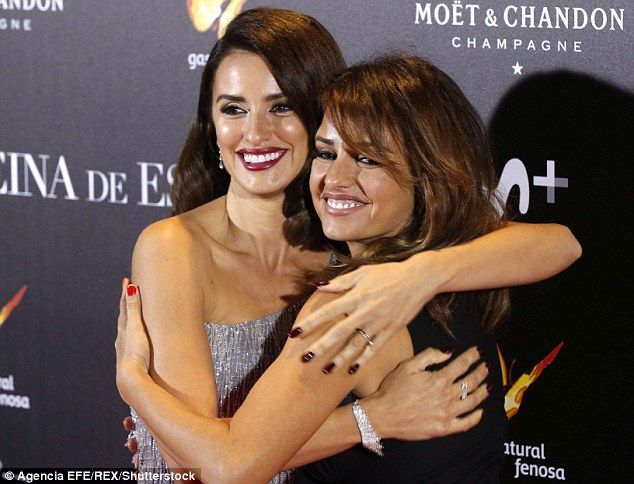 Supportive: Monica was there to see her sister premiere her new film...