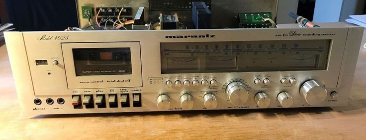 For sale is a Marantz Model 4025 Stereo Receiver/Cassette Deck Combo. I have no idea if it works or not as I have not tested it. The front panel is in pretty good condition although some of the legend has worn off along the bottom around the volume knob area. | eBay!