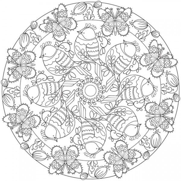Download: Spring Mandala Coloring Page