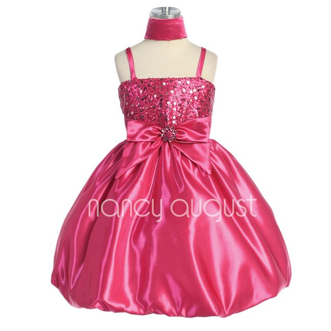 20 best images about Fuchsia Girls Dresses on Pinterest | Satin ...