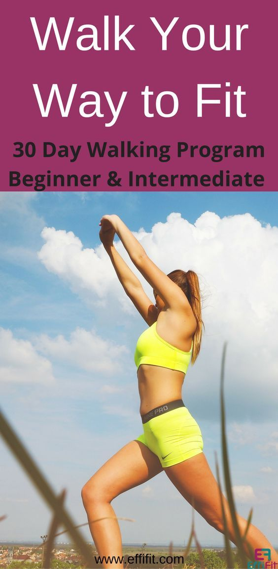 30 day walking program to get fit #fitness #workoutplan #exerciseplan #weightloss