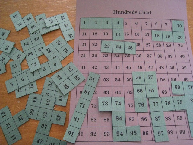 Hundred Chart Math Puzzle as seen on First Grade Faculty   www.firstgradefaculty.com