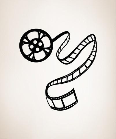 Vinyl Wall Decal Sticker Movie Film Roll #OS_MB424B