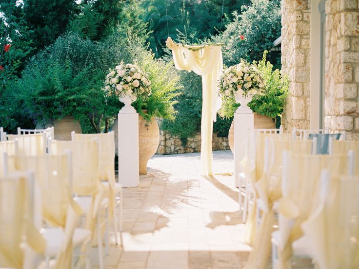 Corfu villa wedding #corfu #wedding #elopement #symbolic #ceremony #greece #island #destination #yellow
