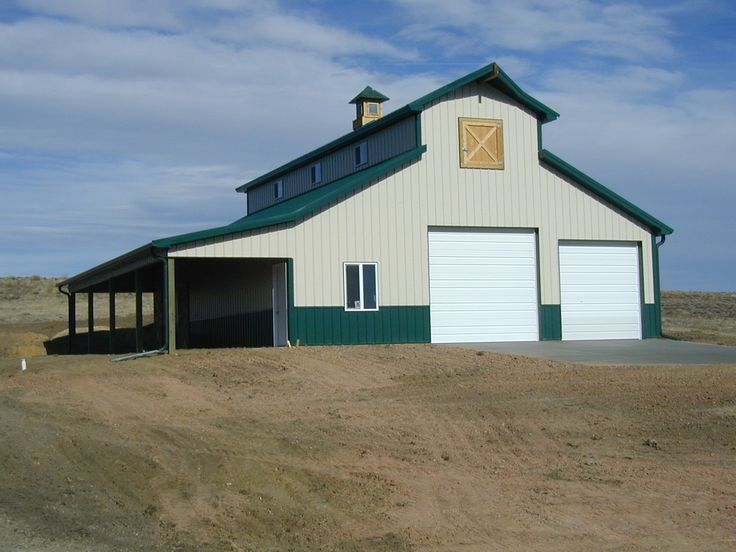 Barns barns garages square construction farmhouse for Design your own pole barn online