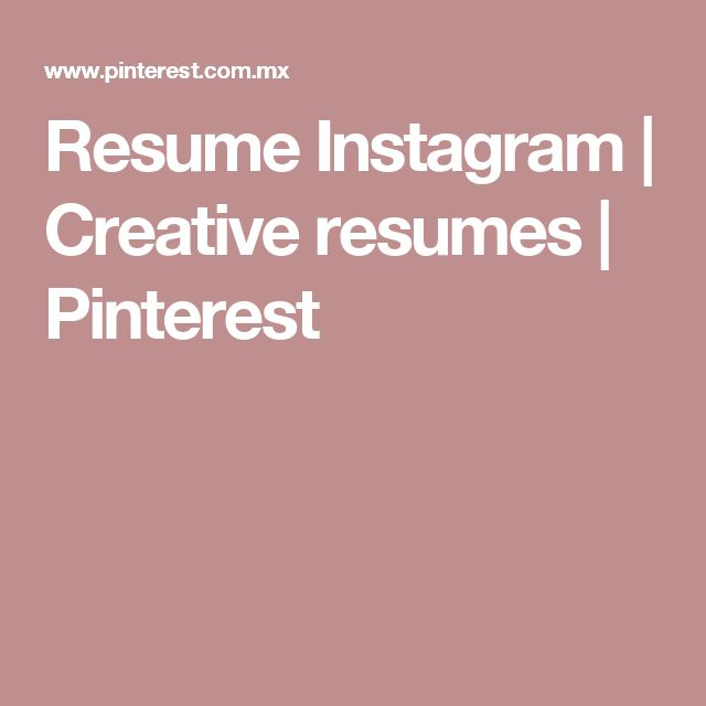 resume instagram