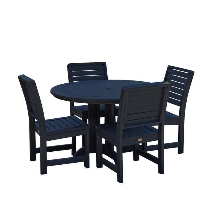highwood Weatherly 5-piece Round Dining Set , Patio Furniture