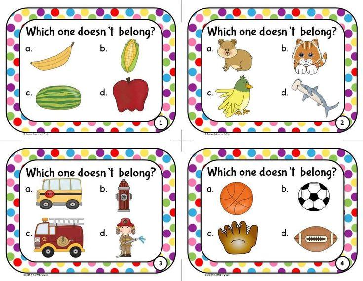 What Doesn T Belong Worksheets For Kindergarten