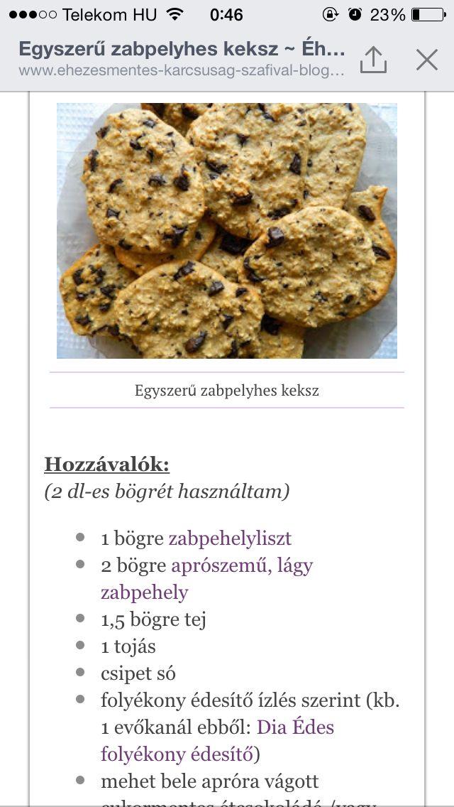 Zabpehely keksz