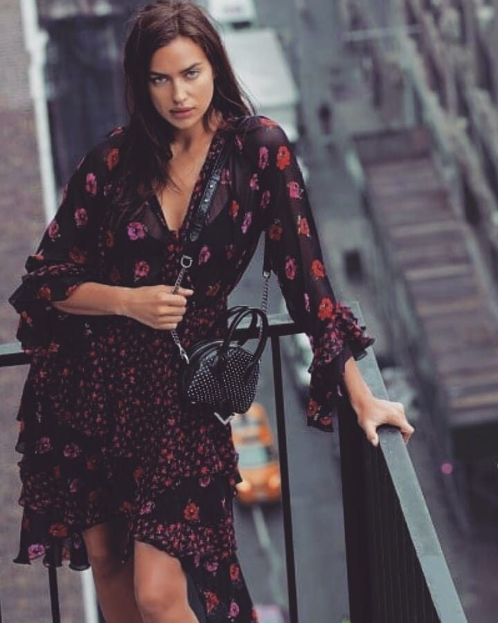 d31cdb3ff91 Irina Shayk X The Kooples wearing The Kooples Long Silk Dress In Rossini &  Perseverance Print. Click To buy #irinashayk #irinashaykstyle  #affiliatelink ...