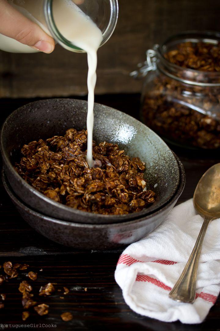 Chocolate Espresso-Almond Granola