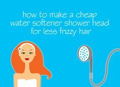 How to Make a Cheap Water Softener Shower head for less Frizzy Hair