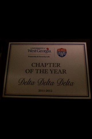 Beta Iota, West Georgia, was awarded Chapter of the Year!