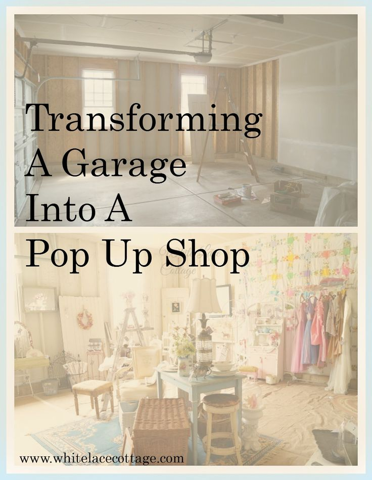 re's a easy and super cheap way to update a garage into a pop up shop! Great for a small business or a garage sale. www.whitelacecottage.com
