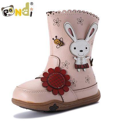 Панда полненькие девушки зимние сапоги 2 0 1 6 осень и зима новый детская обувь один сапоги корейской версии зимние сапоги дети кожаные сапоги девушки сапоги