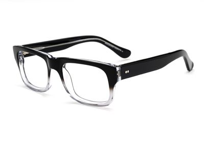 Eyeglasses With No Bottom Frame : retro clear-to-black fade glasses Cool shit Pinterest ...