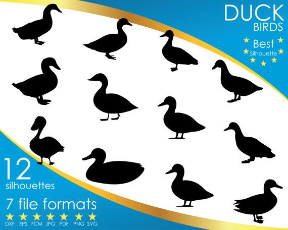 Hey, I found this really awesome Etsy listing at https://www.etsy.com/listing/514669279/12-silhouettes-duck-ducks-bird-birds-dxf