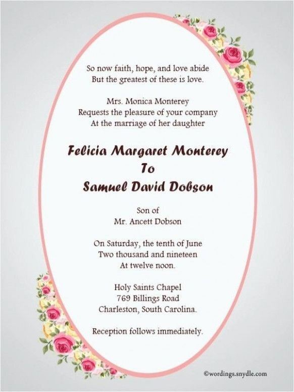 Top Seven Fantastic Experience Of This Year S Wedding Invi Christian Wedding Invitations Sample Wedding Invitation Wording